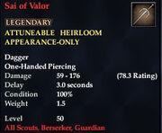 Sai of Valor