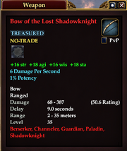 Bow of the Lost Shadowknight