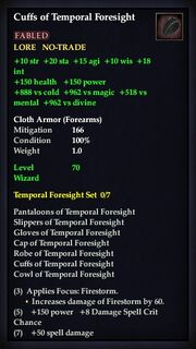 Cuffs of Temporal Foresight