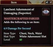 Lambent Adornment of Damaging (Superior)