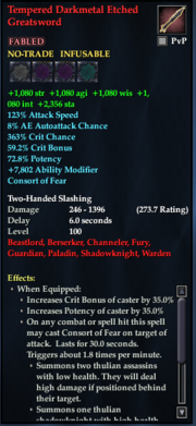 Tempered Darkmetal Etched Greatsword