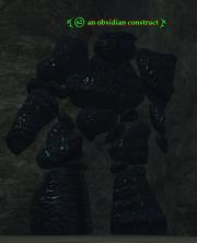 An obsidian construct