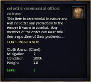 Celestial ceremonial officer cuirass