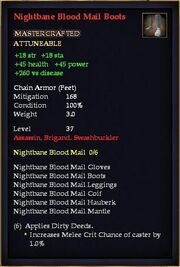 Nightbane Blood Mail Boots