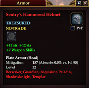 Sentry's Hammered Helmet