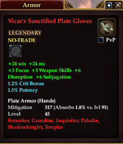 Vicar's Sanctified Plate Gloves