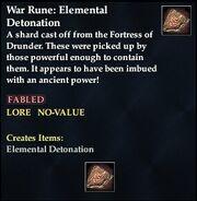 War Rune- Elemental Detonation