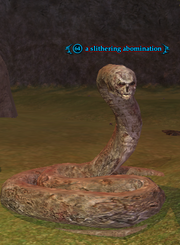A slithering abomination