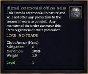 Dismal ceremonial officer helm