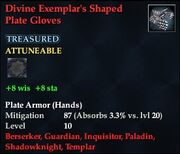 Divine Exemplar's Shaped Plate Gloves