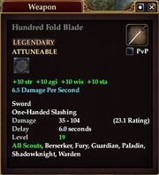 Hundred Fold Blade (Equip)