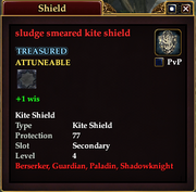 Sludge smeared kite shield