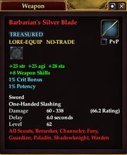 Barbarian's Silver Blade