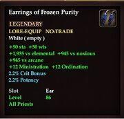 Earrings of Frozen Purity