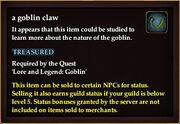 A goblin claw