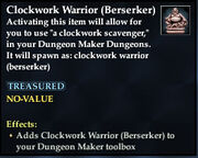 Clockwork Warrior (Berserker)