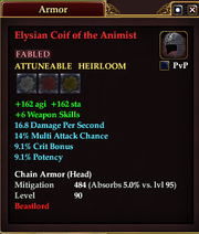 Elysian Coif of the Animist