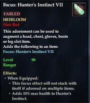 Focus Hunter's Instinct VII