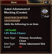 Astral Adornment of Blocking (Greater)