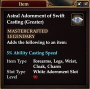 Astral Adornment of Swift Casting (Greater)