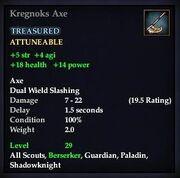 Kregnoks Axe