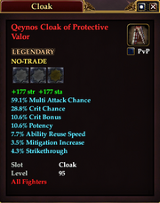 Qeynos Cloak of Protective Valor