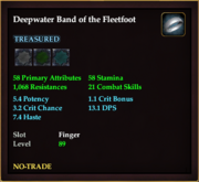Deepwater Band of the Fleetfoot