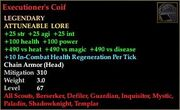 Executioner's Coif