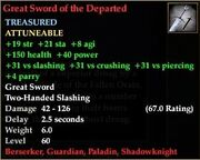 Great Sword of the Departed