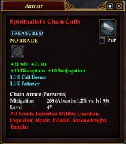 Spiritualist's Chain Cuffs