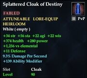Splattered Cloak of Destiny