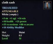 Cloth sash