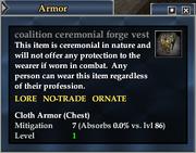 Coalition ceremonial forge vest