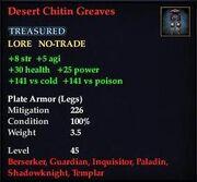Desert Chitin Greaves