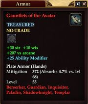 Gauntlets of the Avatar