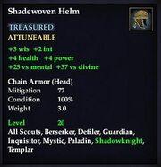 Shadewoven Helm