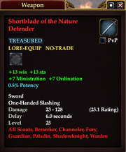 Shortblade of the Nature Defender
