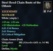 Steel Reed Chain Boots of the Othmir
