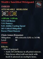 Wraith's Sanctified Wristguard