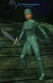 A Tunarian protector (human)
