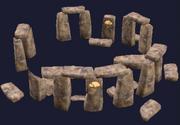 A white granite druid ring (Visible)