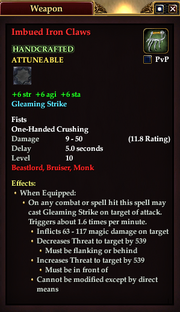 Imbued Iron Claws