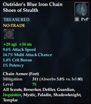 Outrider's Blue Iron Chain Shoes of Stealth