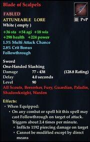Blade of Scalpels