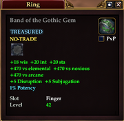 Band of the Gothic Gem