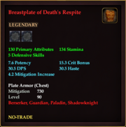 Breastplate of Death's Respite