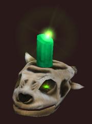 Sathirian Skull Candlestick (Visible)
