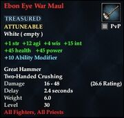 Ebon Eye War Maul
