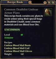 Common Deathfist Umbrae Armor Plans