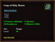 Loop of Holy Runes
